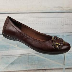 Relativity Womens Brown Slip On Comfort Flats 7